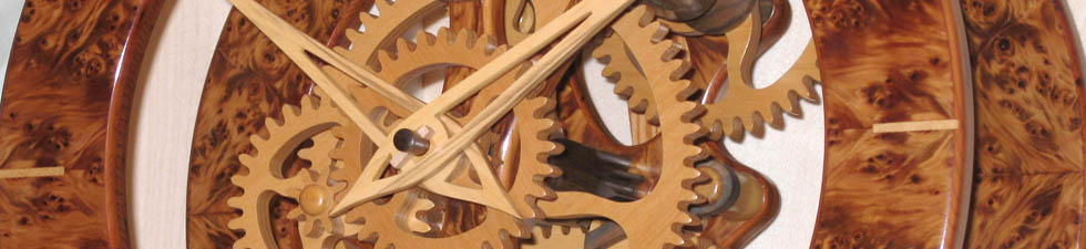 Wooden clock face with all wood parts